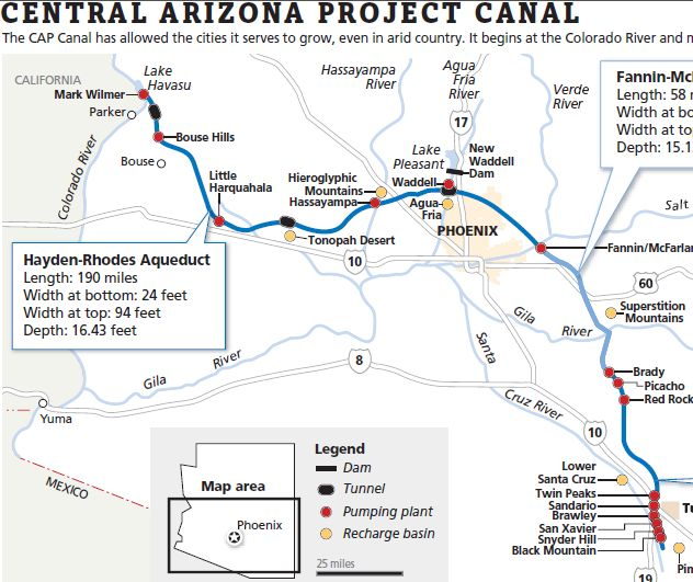 central arizona project canal 28-12-2007 central arizona project (cap) is the state's largest source of renewable water supplies learn more about how cap works to ensure plentiful water supplies fo.