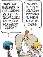 Congress lies - Members of Congress are public servants???