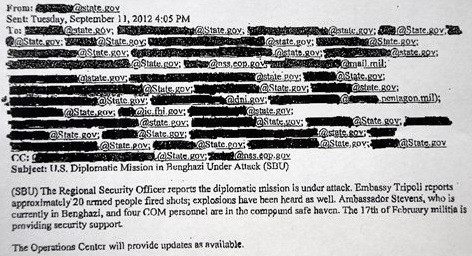 Censored White House email on Libyan attack