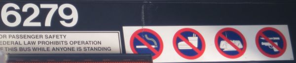 No guns sign on Valley Metro Bus number 6279, Shot on Sat, Feb 12, 2011
